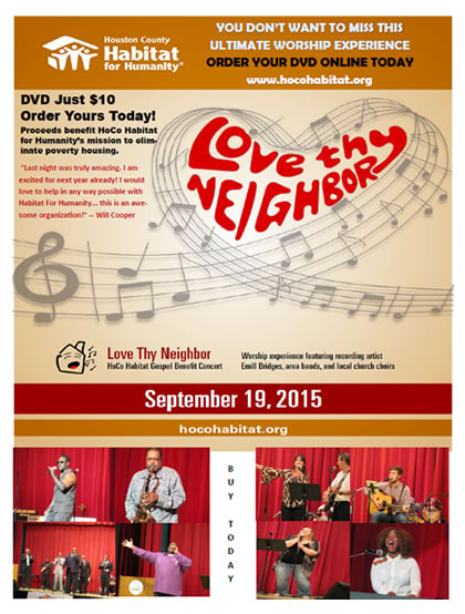 Love Thy Neighbor Gospel Benefit Concert DVD