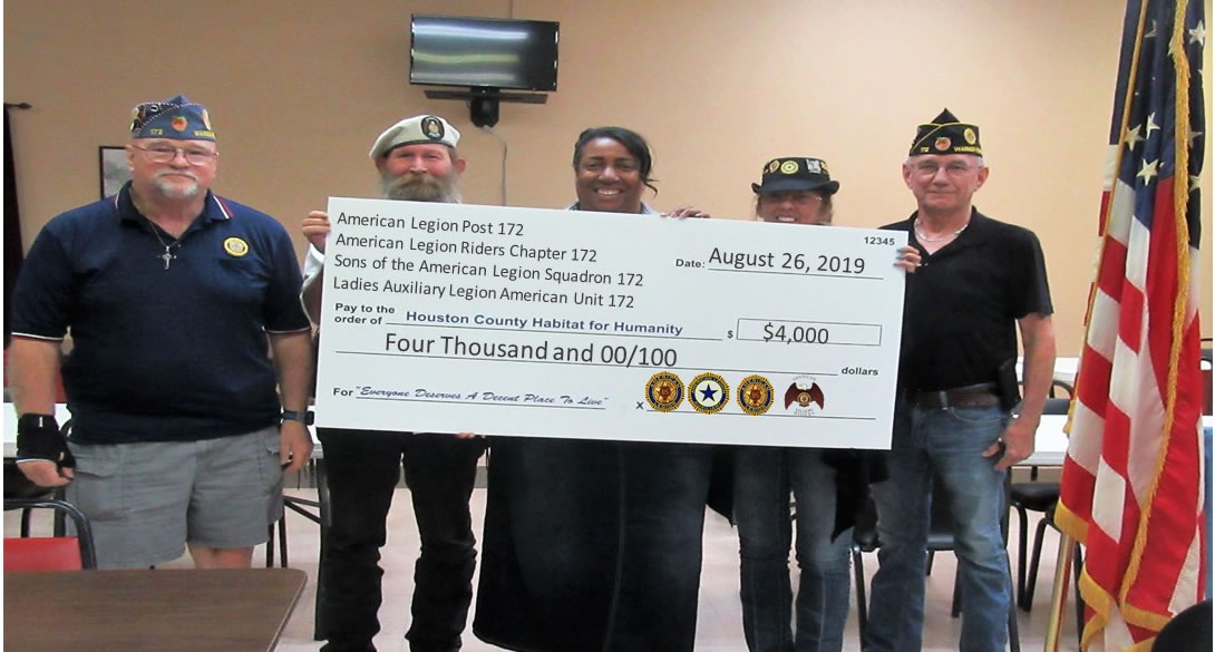 American Legion Post 172 Donation