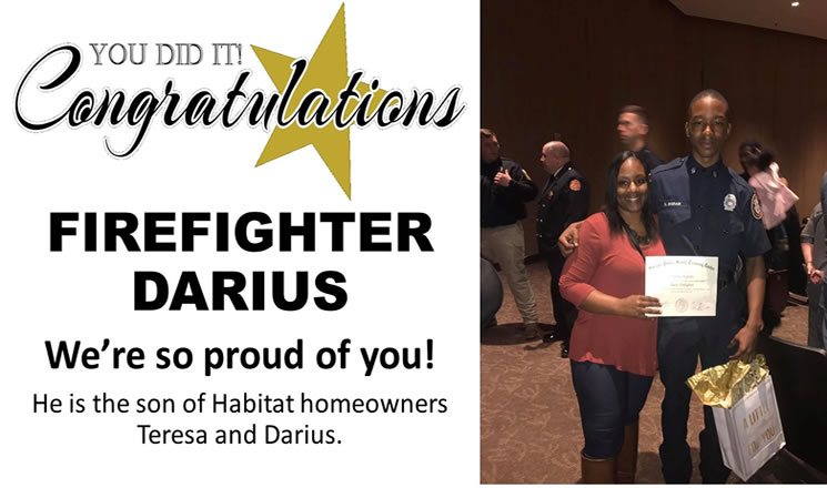 Congratulations Firefighter Darius!