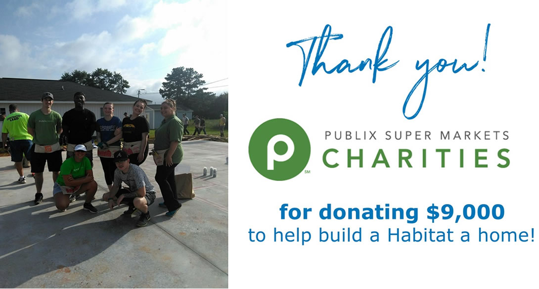 Thanks to Publix Supermarket Charities!