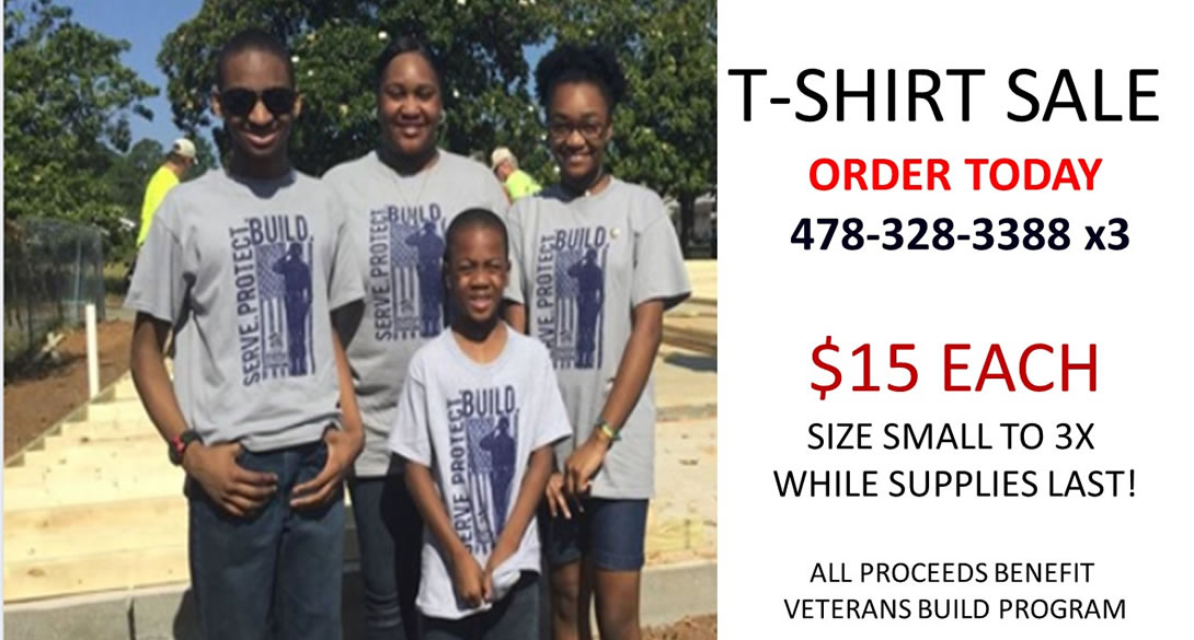 Veterans Build T-Shirts for Sale!