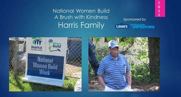 National Women Build 2015 sponsored by Lowe's