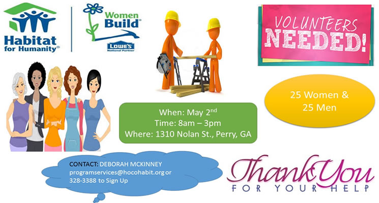 Women Build - Volunteers Needed